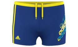Adidas Boys Blue Y Lin Bx Kb Swim Shorts