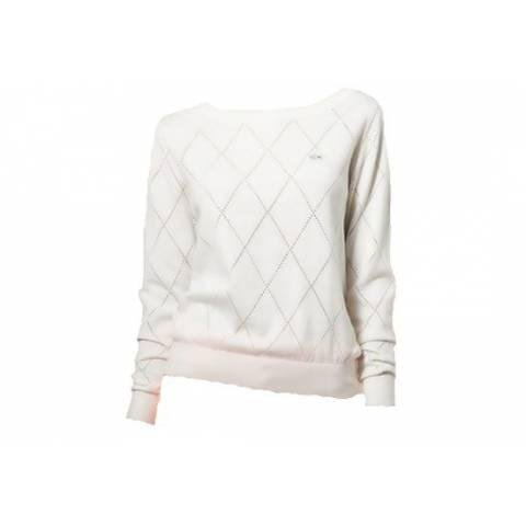 Lacoste Live crew neck sweater with knit detailing за 5300 руб.