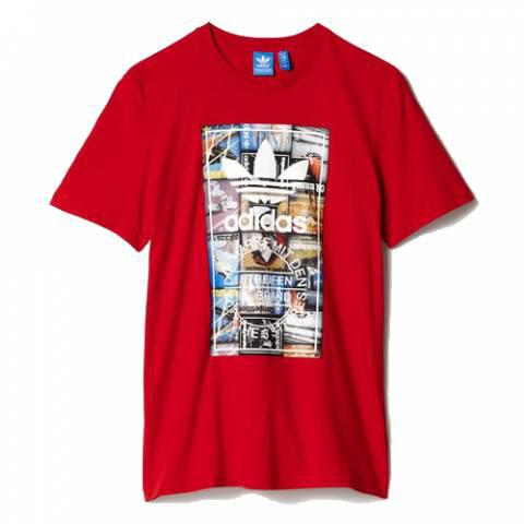 Adidas Back to School Tongue Label Tee Scarlet