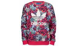 Adidas S Rose Crew Sweatshirt Multicolor