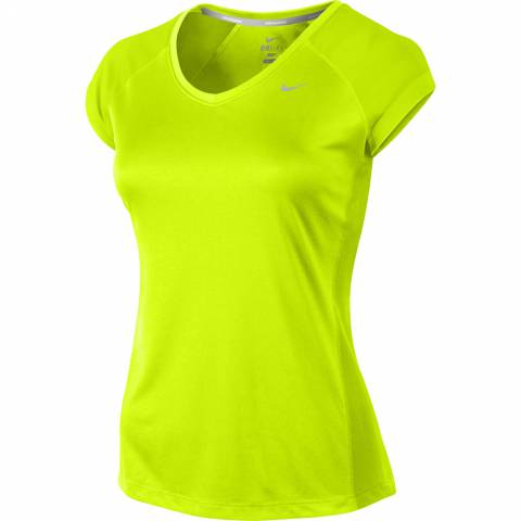 Nike Miler Ss V-neck Top