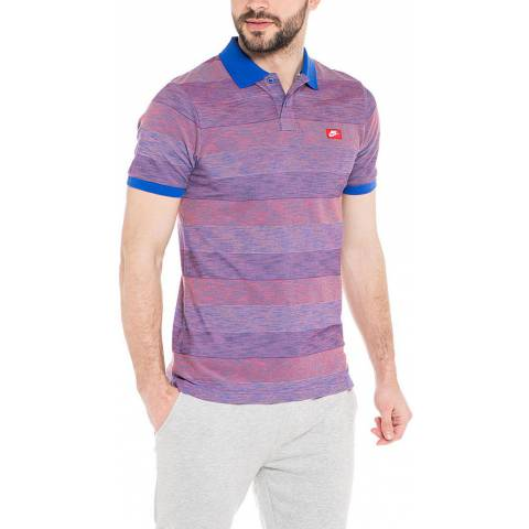 NIKE SLIM POLO-BLUR STRIPE